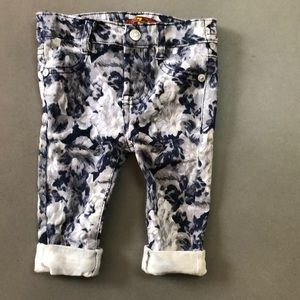 7 For all Mankind floral print skinny jeans 12 M